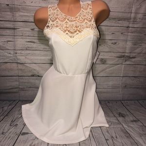 NWT Charlotte Russe white day dress S